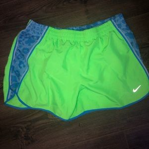 Nike Running Shorts in Green and Blue